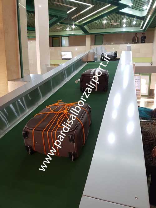 نوار نقاله خطی حمل چمدان فرودگاهی